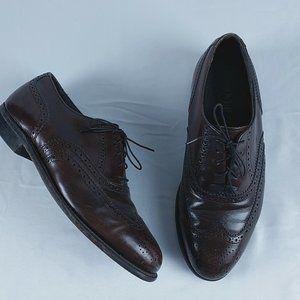 Hanover Wingtip Dress Shoe 7.5 EEE Wide Oxblood